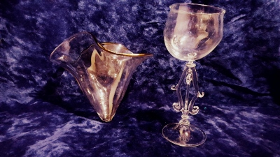 Cyprian goblet and decanter