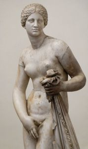 A copy of Praxiteles' Aphrodite of Knidos. Phryne is said to be the model of the original.