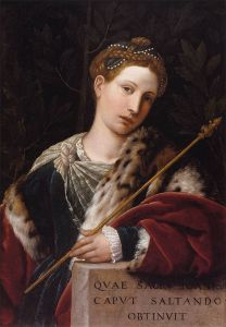 Tullia d'Aragona, portrayed as Salome L'Erodiade by Moretto da Brescia