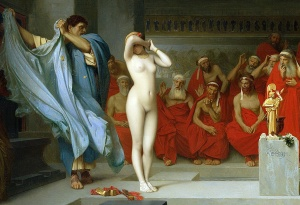 Detail - Phryne before the Areopagus by Jean-Léon Gérôme, c. 1861