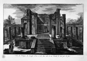 Piranesi's Floorplan of the Temple of Isis used by some Cyprian gardens to lay out their symbolic temple