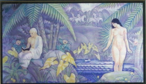 Mural from the wall of the Tavern Club depicting Paphian (Cyprian) themes