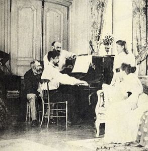 St Claude at his piano