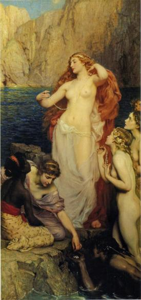 The Pearls of Aphrodite, Herbert James Draper (1863 – 22 September 1920)