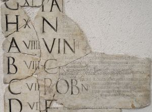 Fragment of the Fasti Praenestini showing the April Vinalia (VIN)