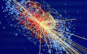 "A data rendering of the experiments that led to the verifying of the Higgs (or ""god"") Particle."