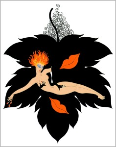 """Lust"" by illustrator/costume designer Erté (1892-1990)"