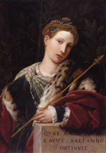 Moretto da Brescia Portrait of Tullia d'Aragona as Salome